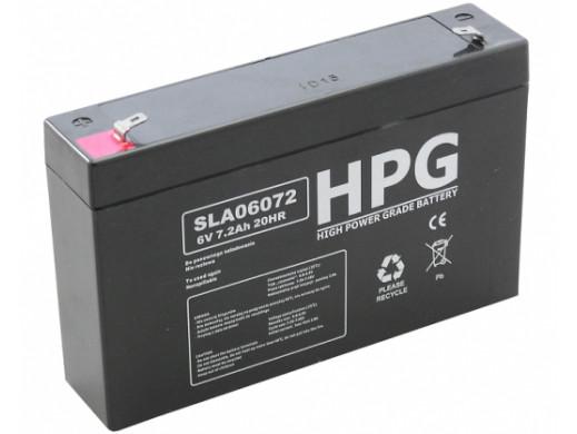 Akumulator żelowy 6V 7,2Ah HPG