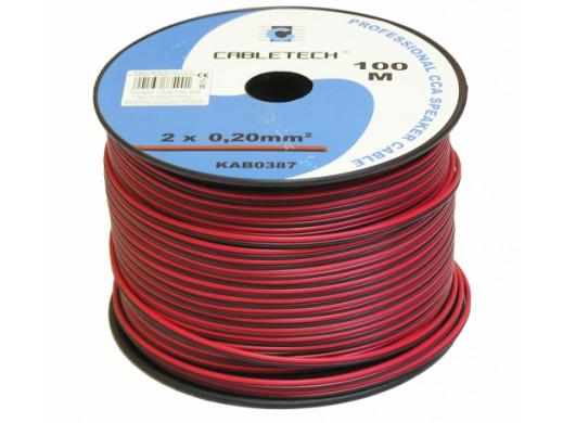 Kabel głośnikowy 2*0,20mm czarno-czerwony