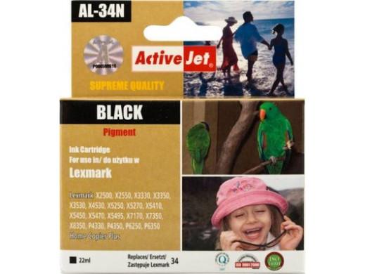 Tusz Lexmark 18C0034BK AL-34N New 22ml Black X2500 X2550 X3330 X3350 X3530 X4530 X5250 X5270 X5410 X5450 X5470 X5495 X7170 X7350