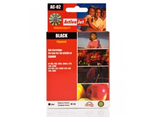 Tusz Canon BC-02Bk AC-02 28ml Black BJ 200, 200e, 200ex, 220, 230, 230H. BJC 10, 150, 210, 210SP, 220, 240, 250, 255SP, 1000. A