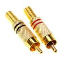 Wtyk cinch metalowy gold