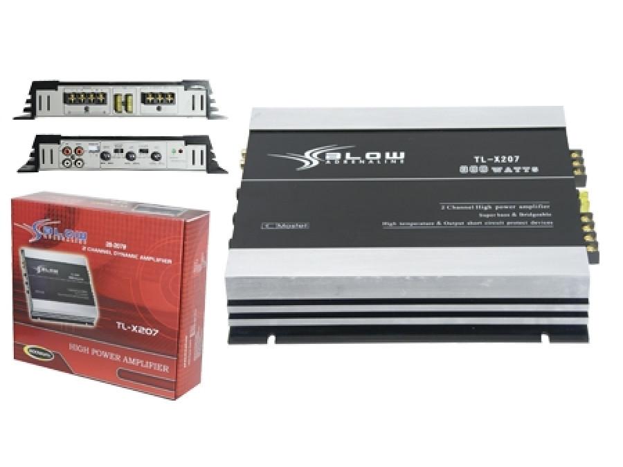 Wzmacniacz samochodowy BLOW TL-X207 800W 2 kanałowy