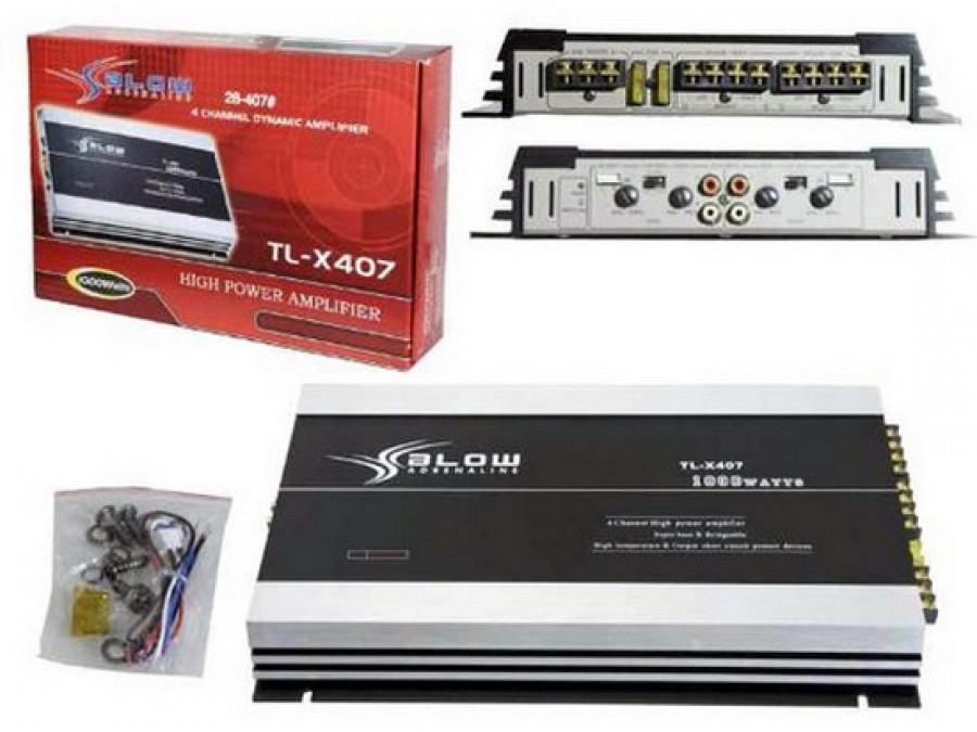 Wzmacniacz samochodowy BLOW TL-X407 1000W 4 kanałowy