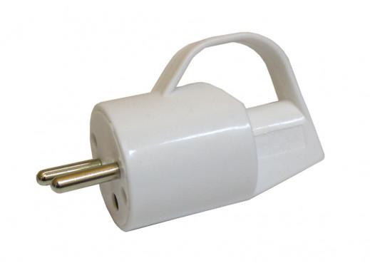 Wtyczka prądowa kątowa z uziemieniem z uchwytem