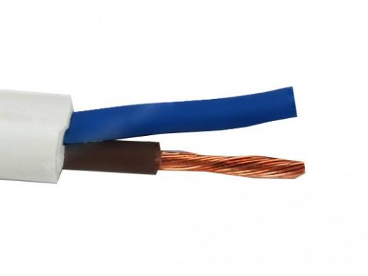 Kabel prądowy omy 2*1,5mm...