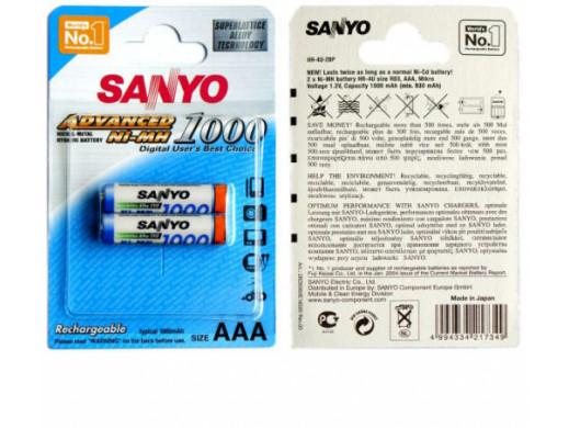 Akumulator R-03 1000mAh Sanyo