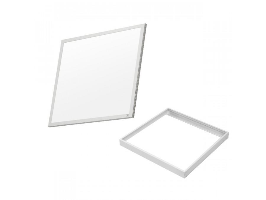 Zestaw natynkowy LED 595x595x8mm, 3200lm Warm White (3000K) Maclean Energy MCE540+MCE543