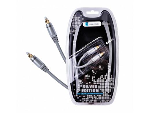 Przewód optyczny 1m Cabletech Silver Edition