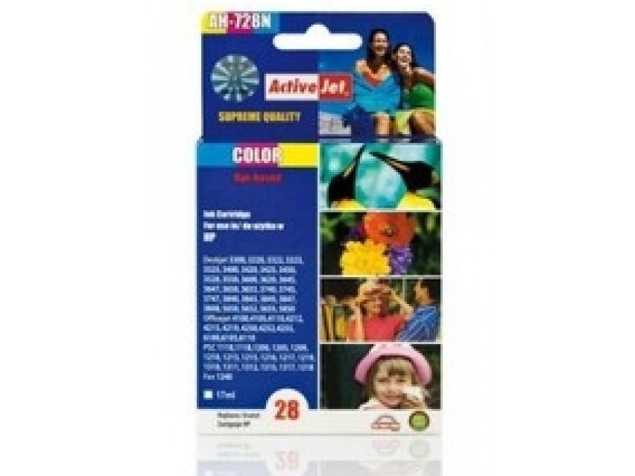 Tusz HP 8728 Color Ref no28 AH-728N 17ml Color  Deskjet 3300, 3320, 3322, 3323, 3325, 3400, 3420, 3425, 3450, 3500, 3520, 3535,