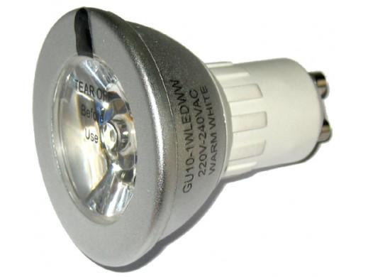 Żarówka 1LED GU10 1W 230V 2700K światło ciepłe