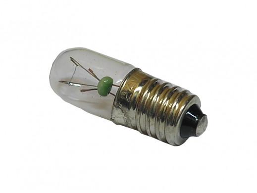 Żarówka E10 12V 100mA 1,2W fi 11,5*24mm z gwintem podłużna bańka