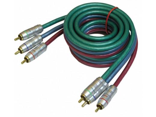 Przewód, kabel 3*3 cinch RGB 5m Daytona component