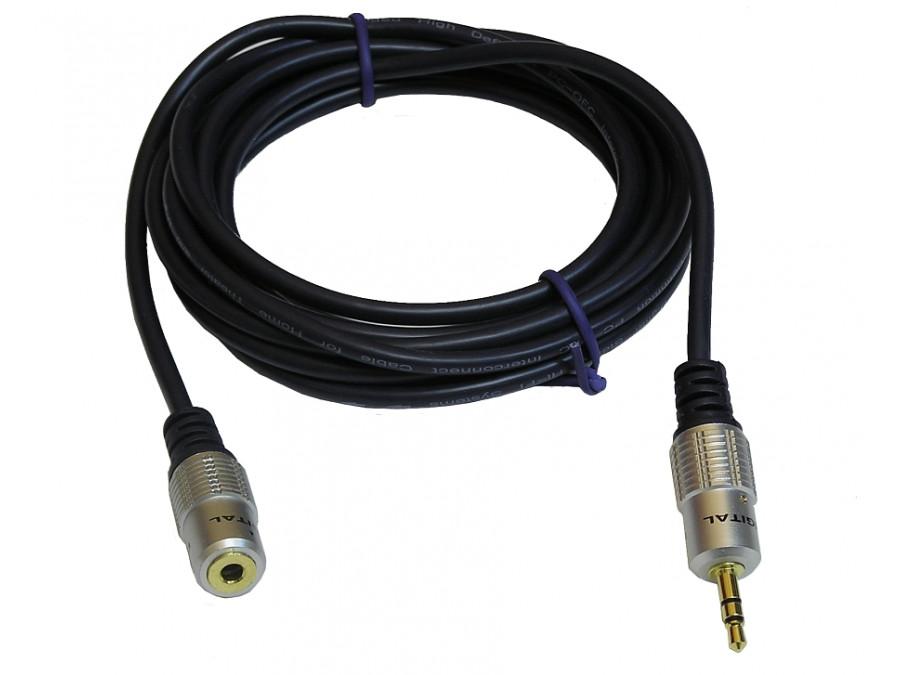 Przewód, kabel 3,5mm jack wtyk-gniazdo 2,5m Daytona
