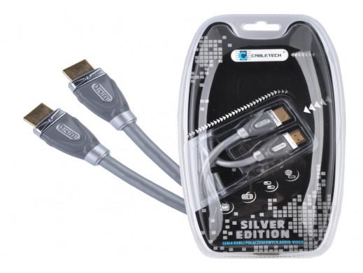 Przewód HDMI-HDMI 3m Cabletech Silver Edition