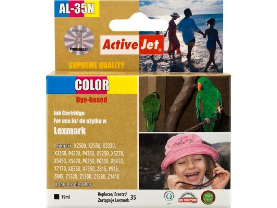 Tusz Lexmark 18C0035 AL-35N New 19ml Color X2500 X2550 X3330 X3350 X3530 X4530 X5250 X5270 X5410 X5450 X5470 X5495 X7170 X7350 X