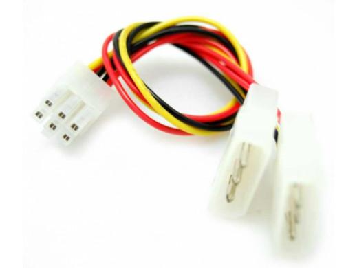 Adapter zasilania VGA PCI-E 2*4 pin na 6 pin BT