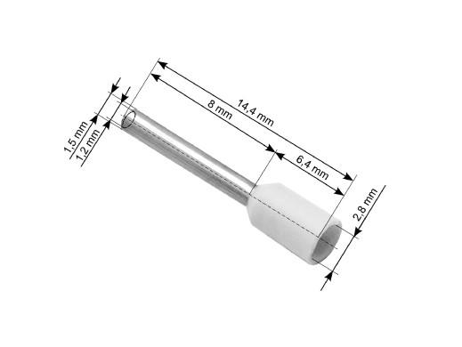Konektor 0,75mm E7508 na zakończenie kabla izolowany