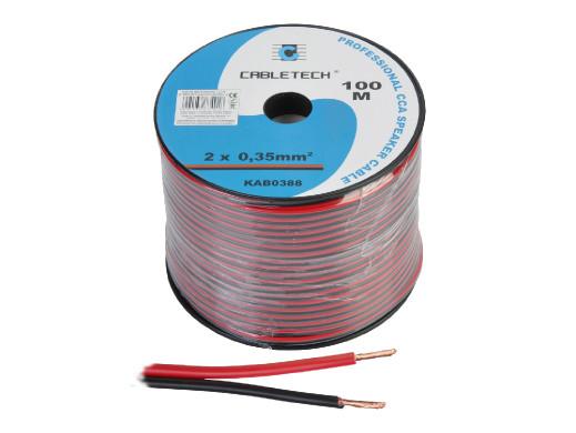 Kabel głośnikowy 0,35mm czarno-czerwony