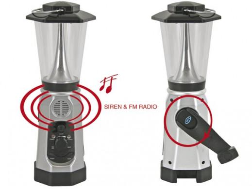 Latarnia 6 LED z dynamem,...