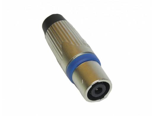 Gniazdo XLR 3 pin żeńskie metal na kabel z odgiętką