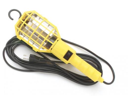 Lampa warsztatowa 60W żółta