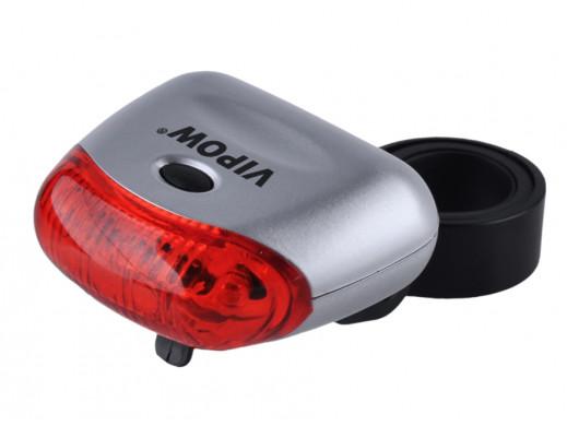 Lampka rowerowa 5 LED tył czerwona VIPOW