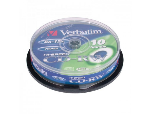 Płyta CD-RW 700mb Verbatim bez opakowania