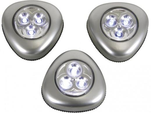 Lampka 3 LED samoprzylepna...