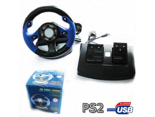 Kierownica WR-60 z USB do PC i PS2