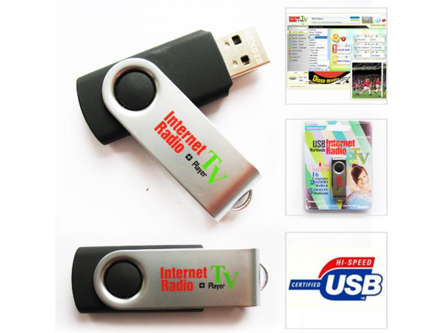 Odtwarzacz USB z internetowym radiem i tv