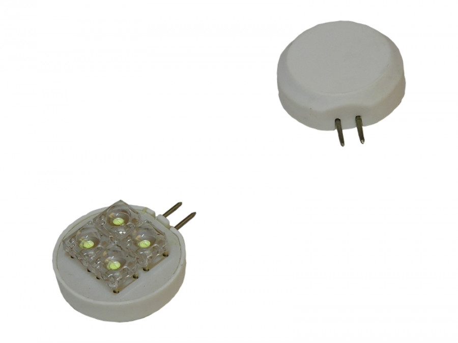 Żarówka LED G4 zimna biała T25-G4 4 LED 12V AC boczna
