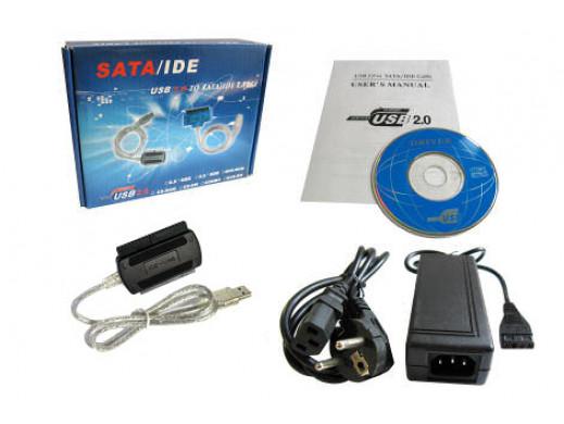 Adapter USB do IDE SATA 2,5'' 3,5'' z zasilaczem