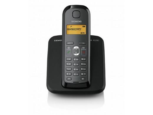 Telefon bezprzewodowy Siemens Gigaset AS280 czarno-grafitowy