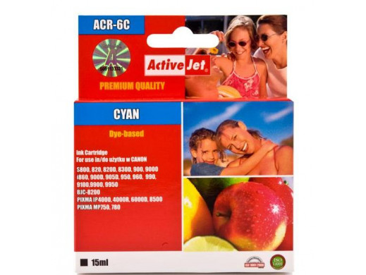 Tusz Canon BCI-6 cyan ACR-6C 15ml S800 820d BJC: 8200. i: 865, 900D, 905D, 950, 960, 965, 990, 9100, 9900, 9950. S: 800, 820, 8