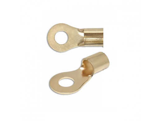 Konektor oczko 5,2mm gold
