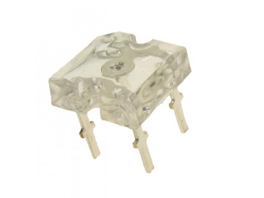 Dioda LED bez soczewki  FLUX BIAŁA 4 pin