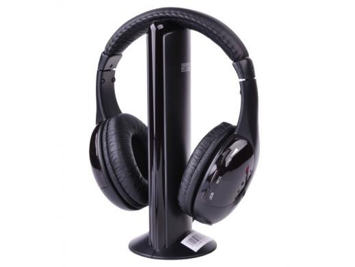 Słuchawki nauszne bezprzewodowe 5 w 1 Intex