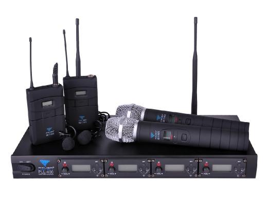 Mikrofon bezprzewodowy PLL-400UHF 2+2