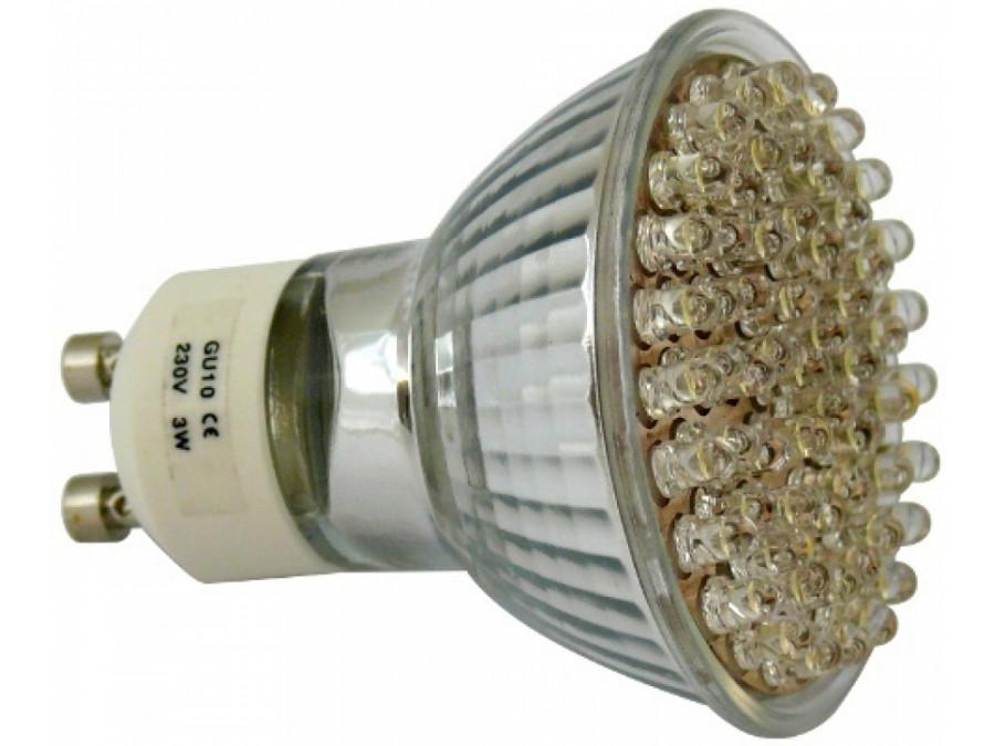 Żarówka 60 LED GU10 230V światło zimne