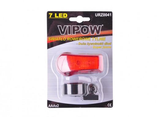 Lampka rowerowa diodowa tył VIPOW