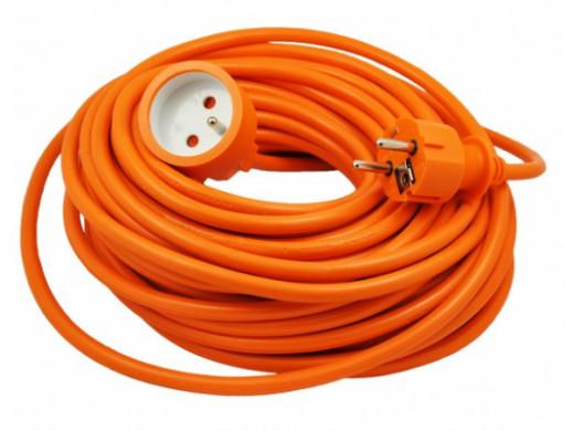 Przedłużacz sieciowy pomarańczowy KEMOT 1gniazdo długość 20m (3x1.5)