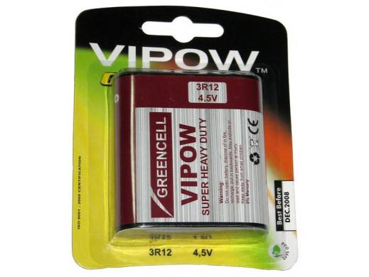 Bateria 3R12 4,5V płaska Vipow Greencell