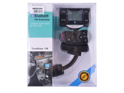 Transmitter samochodowy FM Bluetooth + pilot na kierownicę