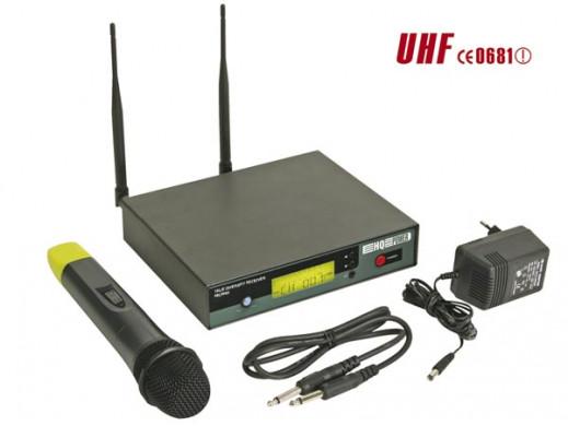 Mikrofon bezprzewodowy 8-kanałowy PLL z wyświetlaczem LCD