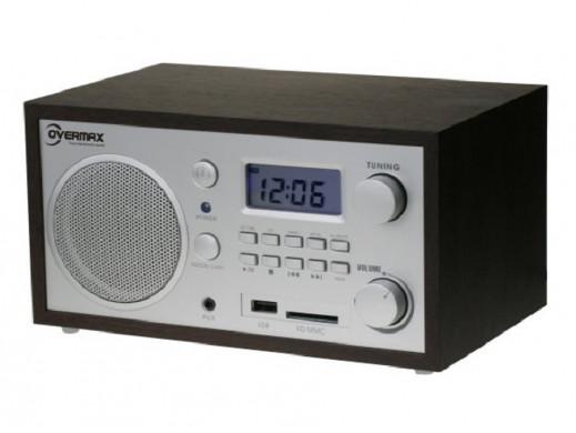 Radiobudzik SD/MP3/USB/AUX OV-RB-03 Overmax