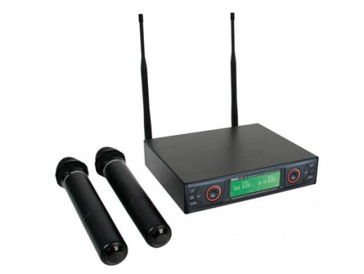 Mikrofon bezprzewodowy 16-kanałowy UHF z wyświetlaczem LCD Velleman