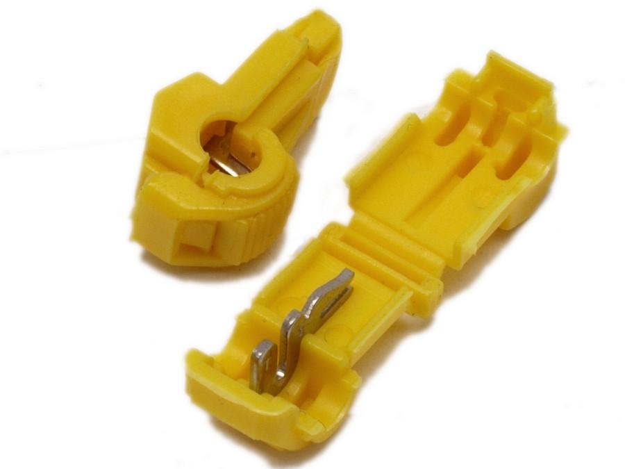 Szybkozłącze samochodowe T1 1,0-2,5mm żółte