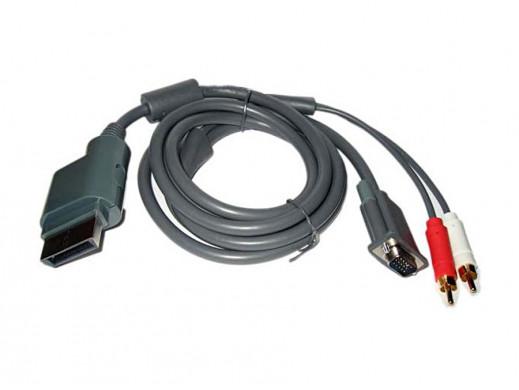 Przewód, kabel VGA 2 cinch do Xbox 360 1,8m
