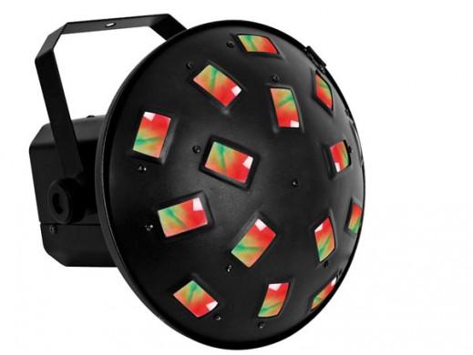 Efekt świetlny LED z obrotem promieni świetlnych w obu kierunkach, grzyb AZURO VDLL300MR