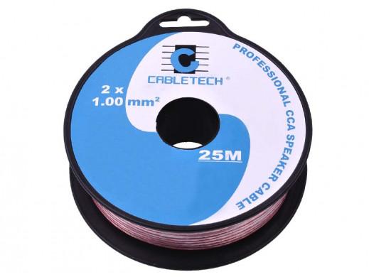 Kabel głośnikowy CCA 1,0mm 25m
